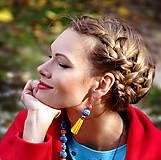 Sady šperkov - Sada náhrdelník + náušky - Soleil - 10278283_