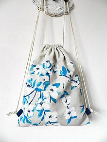 Batohy - Batoh biely rozkvet - 10278660_