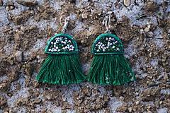Náušnice - Smaragdové náušnice - Medúzy - 10279372_