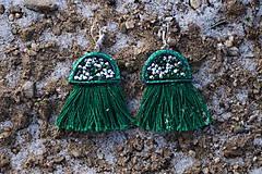 Náušnice - Smaragdové náušnice - Medúzy - 10279377_