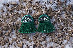 Náušnice - Smaragdové náušnice - Medúzy - 10279379_