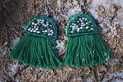 Náušnice - Smaragdové náušnice - Medúzy - 10279486_