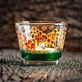 Svietidlá a sviečky - Svietnik - Rozkvitnutá lúka v daždi - 10280196_