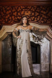 Šaty - Couture šaty LEILA SILVER - 10280193_
