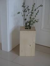 Dekorácie - Drevená váza - 10279068_