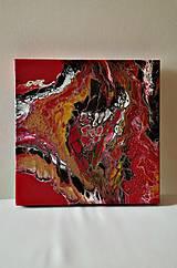 Obrazy - Bublinky v červenom - 10277685_