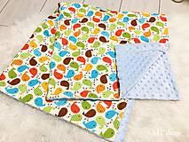 Textil - DETSKÁ DEKA /bavlnená s minky - 10278363_
