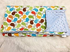 Textil - DETSKÁ DEKA /bavlnená s minky - 10278373_