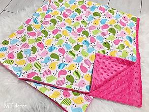 Textil - DETSKÁ DEKA /bavlnená s minky - 10278418_