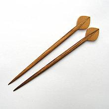 Ozdoby do vlasov - Orechovo-borovicové ihlice do vlasov - lístky - 10279200_