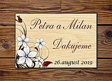 Darčeky pre svadobčanov - Svadobná magnetka - 10281509_