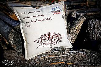 """Úžitkový textil - Vankúšik """" Ružica"""" - 10282328_"""