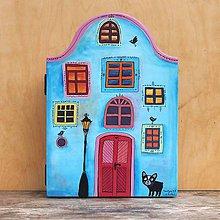 Nábytok - Domček na kľúče- modrý - 10281261_