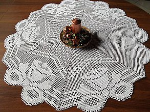 Úžitkový textil - *** Stredový  kruhový obrus - zvončeky*** - 10280704_