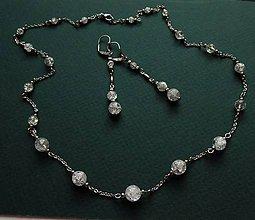 Sady šperkov - Souprava z chir. oceli s krajkovým křišťálem - 10280870_