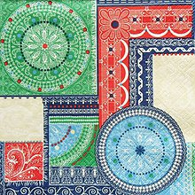 Papier - S1370 - Servítky - vzor, mandala, folk, krajka, indies - 10280431_
