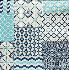 Papier - S1371 - Servítky - vzor, obkladačka, maroko, ornament - 10280461_