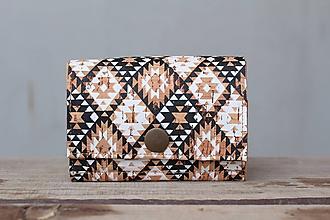 Peňaženky - Korková peňaženka S indiánsky vzor - 10281450_