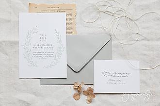 Papiernictvo - Svadobné oznámenie Škovránok - 10282289_