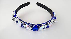 Iné šperky - šitá korálková korunka - 10282305_