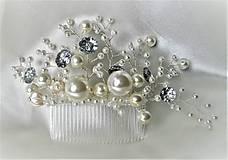 Ozdoby do vlasov - Svadobný hrebienok - 10280661_