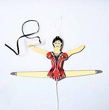 Detské doplnky - Pohyblivá hračka - Baletka (Gymnastka) - 10282382_