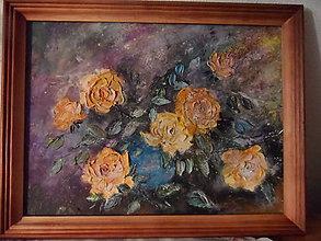 Obrazy - Krehkosť ruží - 10281645_