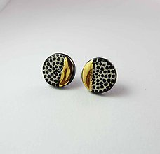 Náušnice - Tana šperky - keramika/zlato - 10282156_
