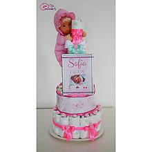 Detské doplnky - Plienková torta SOFIA - 10282161_