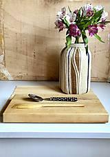"""Dekorácie - """"BIANA"""" obrovská recyklovaná váza - 10281920_"""