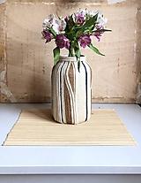 """Dekorácie - """"BIANA"""" obrovská recyklovaná váza - 10281923_"""