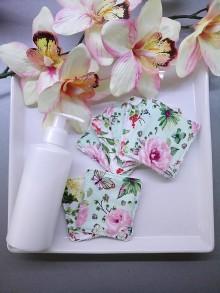 Úžitkový textil - Set odličovacích zerowaste tampónov kvety 8ks - 10280957_
