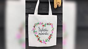 Nákupné tašky - ♥ Plátená, ručne maľovaná taška ♥ (MI8) - 10282072_