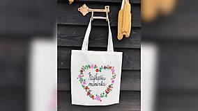 Nákupné tašky - ♥ Plátená, ručne maľovaná taška ♥ (MI8) - 10282073_