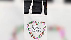 Nákupné tašky - ♥ Plátená, ručne maľovaná taška ♥ (MI8) - 10282100_