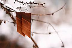 Náušnice - Drevené náušnice z orecha - 10282294_