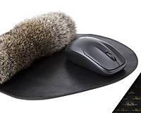 Kožená podložka pod myš MARIMA - čierna