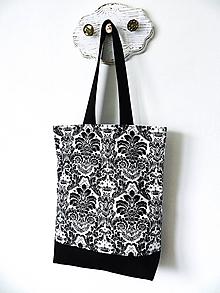 Nákupné tašky - Taška royal čierno-biela - 10280499_