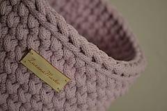 - Háčkovaný košík #Veľký ružový - 10282109_