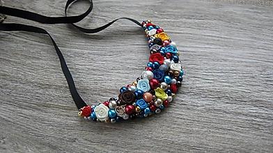 Náhrdelníky - FOR YOU perlový náhrdelník (color roses, č. 2548) - 10280766_