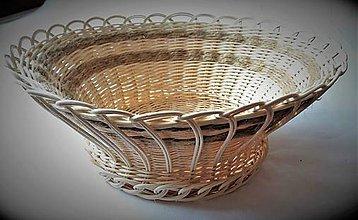 Košíky - Košík s vypletaným dnom a špagátom - 10280826_