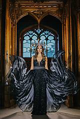 Šaty - Couture šaty QUEEN OF THE NIGHT onyx - 10282556_