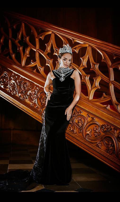 Couture šaty QUEEN OF THE NIGHT zamat