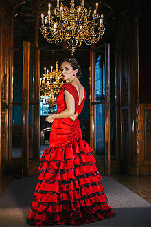 Šaty - Couture šaty CARMEN vith CORALS - 10281295_