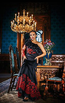 Šaty - Couture šaty CARMEN EMBROIDED - 10281908_