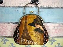Kabelky - Kabelka Vintage Paris - sleva z 27eur - 10280602_