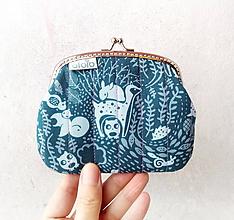 Peňaženky - Peňaženka XL Štylizované zvieratká - 10280848_