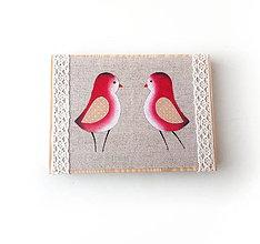 Obrázky - Obrázok s ružovými vtáčikmi - 10280882_