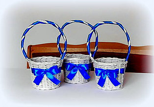 Košíky - košík svadobný - kráľovská modrá - 10281147_