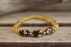 Náramky - Náramok z minerálov jaspis, citrín - 10282471_